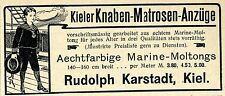 Rudolph Karstadt Kiel* Kieler Knaben- Matrosen- Anzüge Historische Annonce 1905