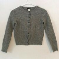 J. Crew Wool Cashmere Blend Cardigan Sweater Women's Petite Medium Gray