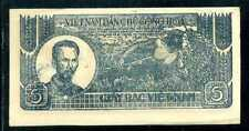 VIETNAM  5   DONG ND (1948)   P. 17  W/Overprint Circulated = XF/AU