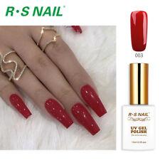 RS Nail Gel Nail Polish LED UV Hybrid Gel Colour Red 003