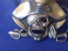 Pirates Of The Caribbean Skull Sword Belt Buckle Vintage Men