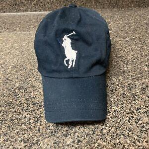 Polo Ralph Lauren BIG PONY MCMLXVII Leather Strap Baseball Hat, Cap, Navy