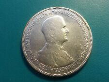 1930 HUNGARY  BP 5 PENGO, REGENCY OF ADMIRAL HORTHY -10th ANNIVERSARY, SILVER.XF