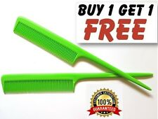 "Grass Green Flexi Barbers Plastic Pin Tail Hair Comb 8"" Rat Tail Comb UK Quality"