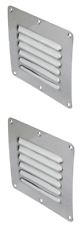 Air Vent Caravan Wall Eave House Stainless Steel x 2 Air Vents 127mm x 115mm New