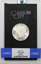1881-CC $1 NGC/GSA Hoard MS 66 Morgan Silver Dollar W/ Box + COA