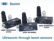Baumer UEDK 30P/508052 and USDK 30D9003/S14 Ultrasonic through beam sensors