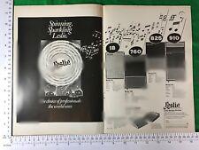 Rare Publicité Leslie Modèle 18 760 825 910 + De-Luxe Pré-Amp II 1975 Cabinet rotatif