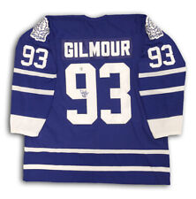 Doug Gilmour Autographed Blue Toronto Maple Leafs Jersey