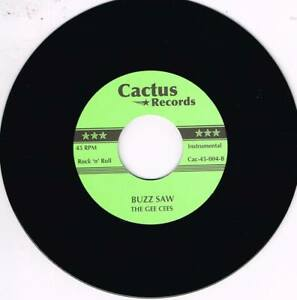 THE GEE CEES - BUZZ SAW b/w THE CHAMPS - SOMBRERO (2 Hot INSTRUMENTAL Jivers)