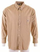 NORTH SAILS Mens Shirt XL Khaki Cotton  BI06