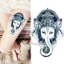 Indian Luck Elephant Om Arm Leg Body Art Waterproof Sticker Temporary Tattoo C4