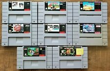 SNES Game LOT: Street Fighter + Ms Pac-Man + Lester + NBA Jam + NHL + MORE