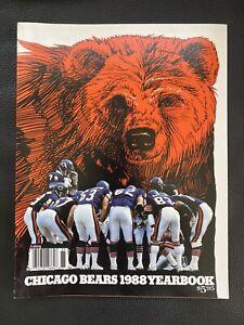 1988 Chicago Bears Football Yearbook NFL Ditka Payton Singletary