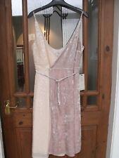 Next Velvet Sequin Vintage Wedding Peach Wrap Over Dress Size 16P Petite RRP £65