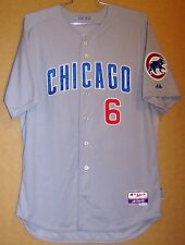 CHICAGO CUBS BRYAN LaHAIR ROAD BUTTON-DOWN 2012 SIZE 50 GAME WORN JERSEY