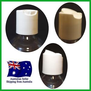 White PP Smooth Wall Disc Top Cap for Dispense Bottle ( not include Bottle)