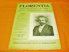 florentia rivista mensile di lettere arti scienze aprile-maggio 1905