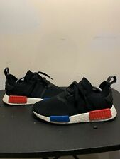 491aaca8b92a8 S79168 Adidas NMD R1 PK Primeknit OG Black Red Blue Size 8 Athletic Shoes
