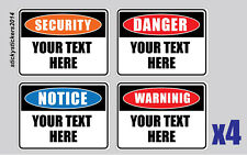 Personalized Your Text Here Corflute Sign 300x2225mm Pack (4) Fast Delivery