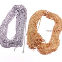 """50pcs Wholesale Silver or Gold Stainless Steel Womens Rolo Link Necklace 16-24"""""""