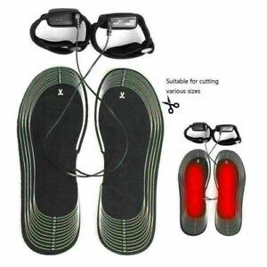 USB Beheizbare Einlegesohlen Beheizte Schuheinlagen Heizsohlen Schuh Shoes Pad