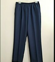 Blair Size 8PS Navy Blue Elastic Waist Pull On 100% Polyester Pants NWOT