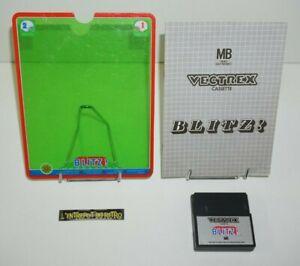 ++ jeu MB VECTREX blitz ! avec sa notice et son overlay ++