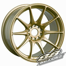 XXR 527 17x9.75 5x114.3 5x100 +25 Offset Gold Wheel Rims 240SX S13 S14 Civic RSX
