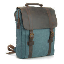 Hombre Mujer Vintage Lona de piel de Viaje Mochila Escolar Bolso satchel