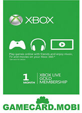 XBOX Live 1 Monat - XBOX 360 ONE Mitgliedschaft GOLD Membership 1 Month Card DE
