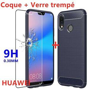 Huawei P30 Pro/P20 Lite/P10 Plus/P9/P8 Lite Coque Renforcé + Vitre Verre trempé
