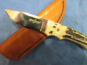 Handmade Knife. Small Stag Hunter. Ed Kalfayan. Unused. Excellent