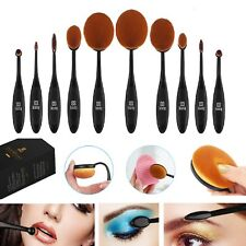 10PZ Professionale Pennelli Cosmetici Makeup Brush Spazzola Trucco Set