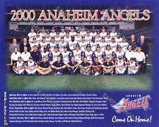 2000 ANAHEIM CALIFORNIA ANGELS TEAM 8X10 PHOTO ERSTAD VAUGHN SALMON GLAUS