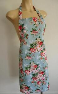 HANDMADE Country Pink Roses Baby Blue 100% Cotton  Apron HUGE RANGE IN STORE
