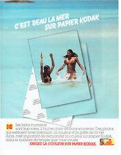 Publicité Advertising 127  1980  Kodak  papier couleur  photo