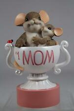 Charming Tails 'Mom, You Are The Best' Mom & Child in Trophy- #4035261 Nib!