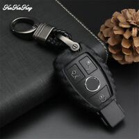 Carbon Fiber Remote Car Key Cover Case Holder Fob For Mercedes Benz W203 W210