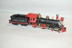 HO AHM Pocher Virginia & Truckee Ry 4-4-0 RENO steam locomotive train old time