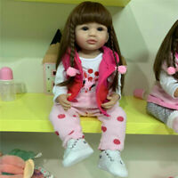 22in Reborn Toddler Girl Doll Soft Full Body Silicone Girl Baby Doll Soft Touch