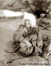 Elderly Yokut Woman, Tule River Reservation, Calif. c.1900- Historic Photo Print