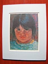 """""""Cherokee Mad"""" limited edition signed print- Lynne Bybee 11/110 - little girl"""