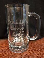 New listing Daddy's Sippy Cup Engraved Glass Mug
