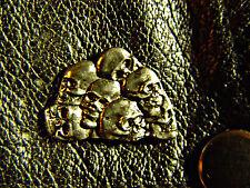Seven Skulls Classic Vintage Old School Motorcycle Vest Biker Pin 1130b