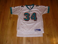 Reebok RICKY WILLIAMS White MIAMI DOLPHINS Youth NFL Team Replica JERSEY L 14-16