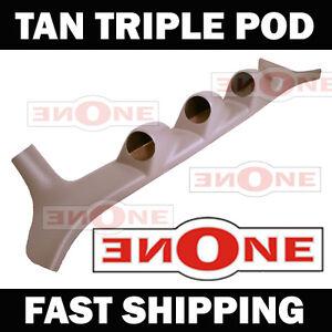 92-97 Ford F-Series Tan Triple Gauge A Pillar Pod 52mm ABS Plastic 001-TAN