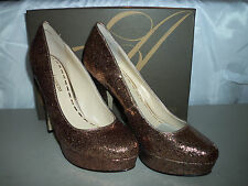 Enzo Angiolini New Womens Smiles Gold Pump Heels 10.5 M Shoes