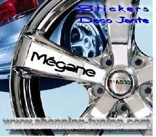 8 STICKER AUTOCOLLANT LOGO JANTE RENAULT MEGANE