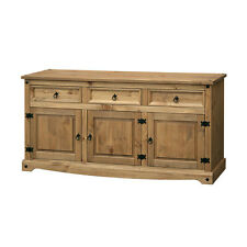 Corona Premium Quality Solid Mexican Pine Sideboard Large 3 Door 3 Drawer